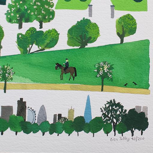 Richmond Park Fine Art Print Lisa Tolley Artist And Illustrator